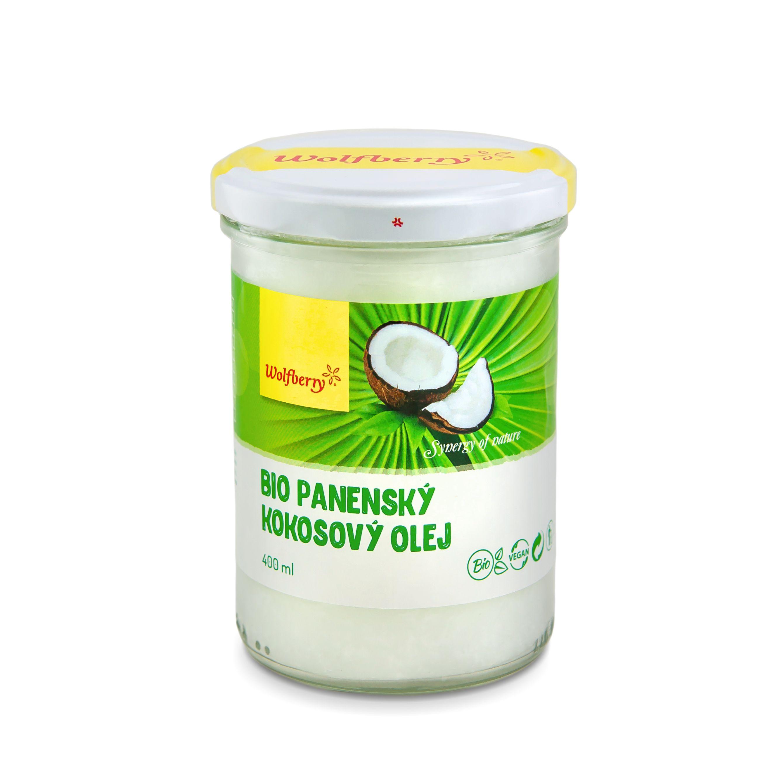 Szűz kókuszolaj, BIO, 400 ml Wolfberry *